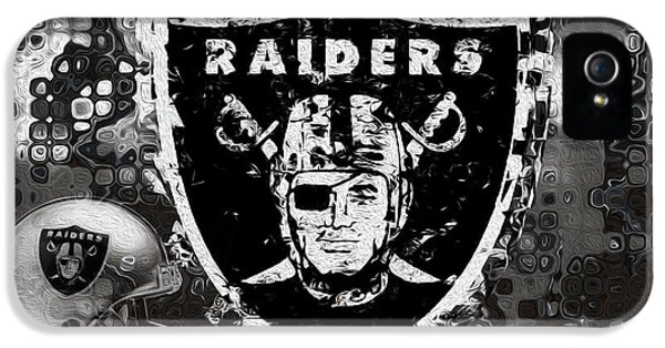 Culture iPhone 5 Cases - Oakland Raiders iPhone 5 Case by Jack Zulli