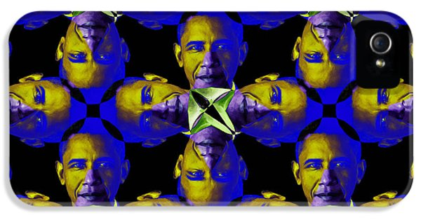 President Obama iPhone 5 Cases - Obama Abstract 20130202m118 iPhone 5 Case by Wingsdomain Art and Photography