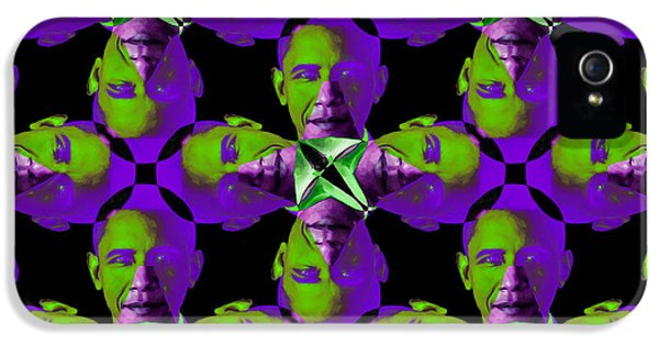 President Obama iPhone 5 Cases - Obama Abstract 20130202m88 iPhone 5 Case by Wingsdomain Art and Photography
