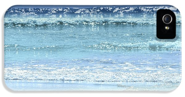 Backgrounds iPhone 5 Cases - Ocean colors abstract iPhone 5 Case by Elena Elisseeva