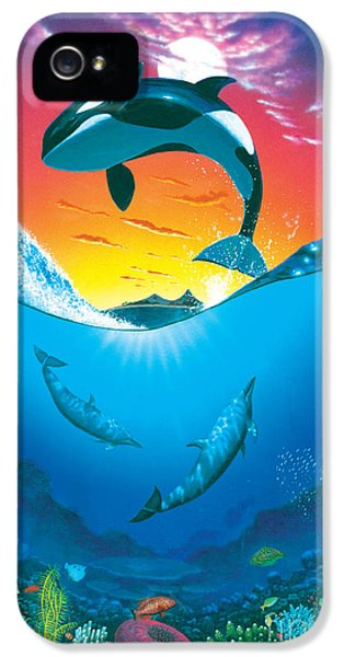 Whale iPhone 5 Cases - Ocean Freedom iPhone 5 Case by MGL Studio - Chris Hiett
