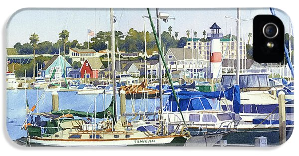 Shack iPhone 5 Cases - Oceanside Harbor iPhone 5 Case by Mary Helmreich