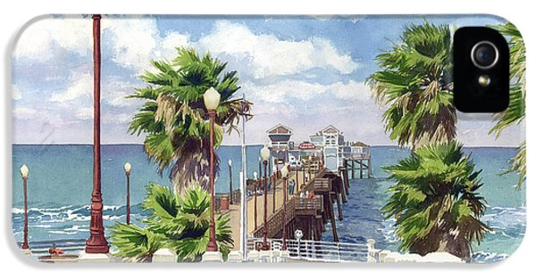 Pier iPhone 5 Cases - Oceanside Pier iPhone 5 Case by Mary Helmreich