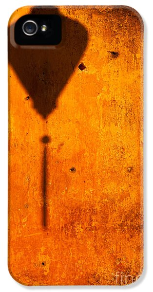 Vietnam Wall iPhone 5 Cases - Ochre Wall Lantern Shadow iPhone 5 Case by Rick Piper Photography