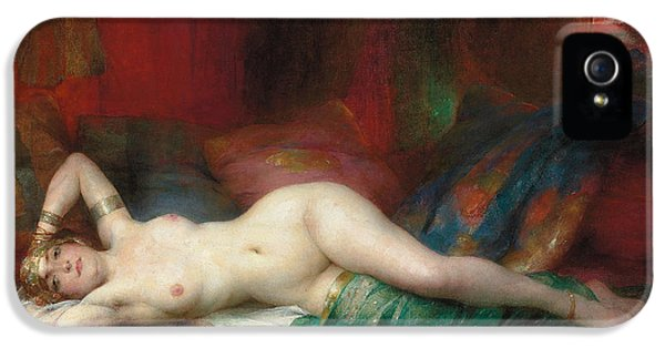 Nudity iPhone 5 Cases - Odalisque iPhone 5 Case by Henri Adrien Tanoux