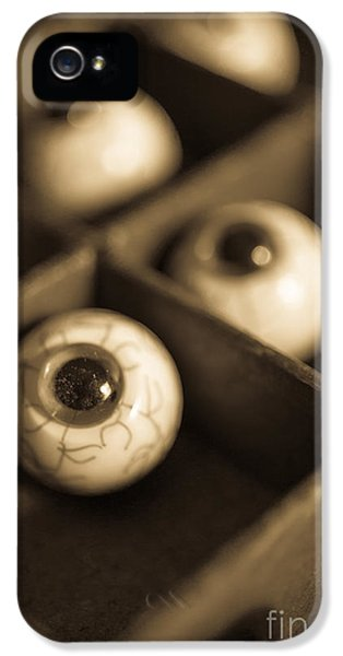 Eyeball iPhone 5 Cases - Oddities Fake Eyeballs iPhone 5 Case by Edward Fielding