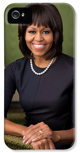 Michelle Obama iPhone 5 Cases - Official portrait of First Lady Michelle Obama iPhone 5 Case by Celestial Images