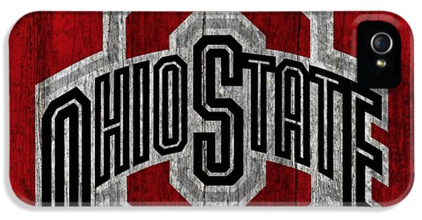 Ohio State University On Worn Wood IPhone 5 / 5s Case by Dan Sproul