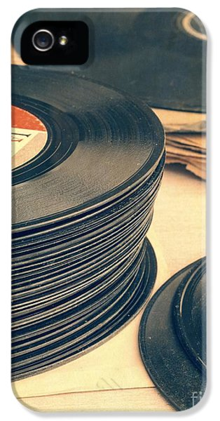 Old 45s IPhone 5 / 5s Case by Edward Fielding