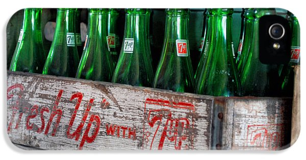 Central Il iPhone 5 Cases - Old 7 Up Bottles iPhone 5 Case by Thomas Woolworth