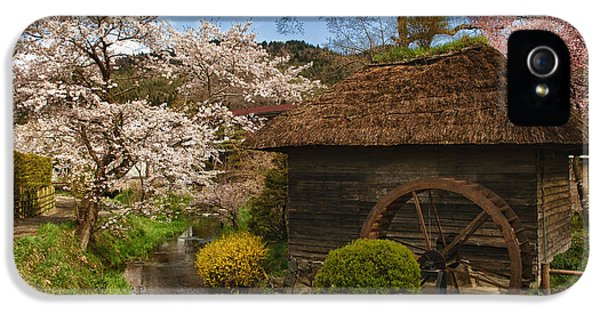 Country iPhone 5 Cases - Old Cherry Blossom Water Mill iPhone 5 Case by Sebastian Musial