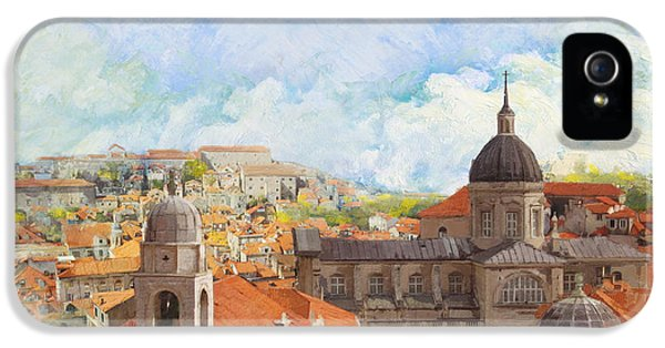 Castle iPhone 5 Cases - Old City of Dubrovnik iPhone 5 Case by Catf