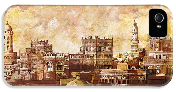 Castle iPhone 5 Cases - Old city of sanaa iPhone 5 Case by Catf