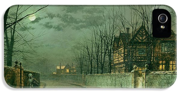 Old English House, Moonlight IPhone 5 / 5s Case by John Atkinson Grimshaw