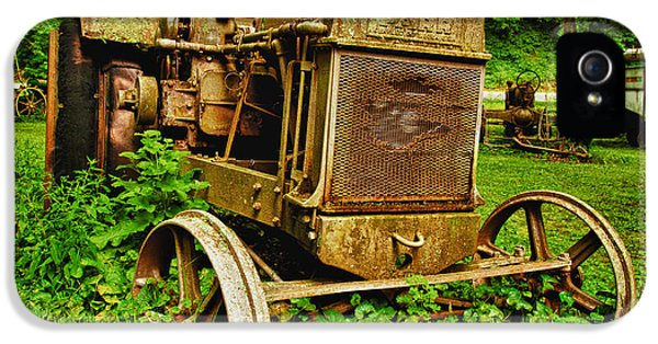 Tractor iPhone 5 Cases - Old Farm Tractor iPhone 5 Case by Sebastian Musial