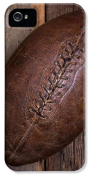 Stitch iPhone 5 Cases - Old Football iPhone 5 Case by Edward Fielding