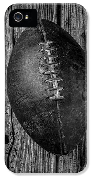 Stitch iPhone 5 Cases - Old Football iPhone 5 Case by Garry Gay