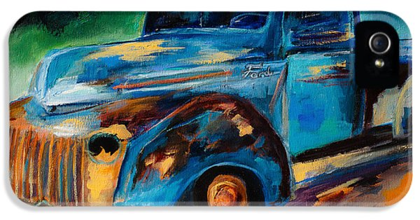 Decay iPhone 5 Cases - Old Ford In the Back of the Field iPhone 5 Case by Elise Palmigiani