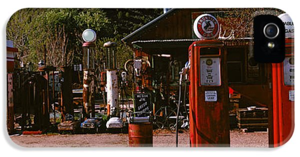 Fuel And Power Generation iPhone 5 Cases - Old Frontier Gas Station, Embudo, New iPhone 5 Case by Panoramic Images