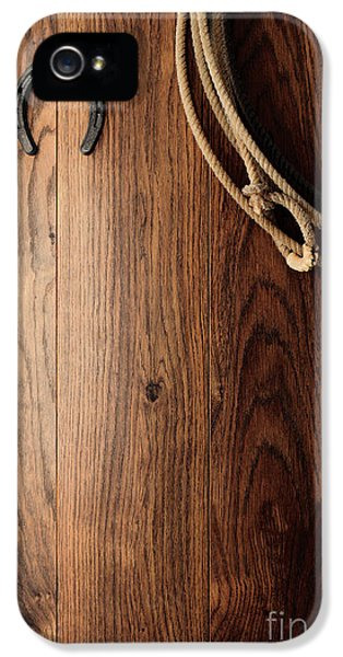 Old Horseshoe And Lariat IPhone 5 / 5s Case by Olivier Le Queinec