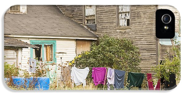 Washed iPhone 5 Cases - Old House With Laundry iPhone 5 Case by Keith Webber Jr