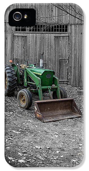 Farmland iPhone 5 Cases - Old John Deere Tractor iPhone 5 Case by Edward Fielding