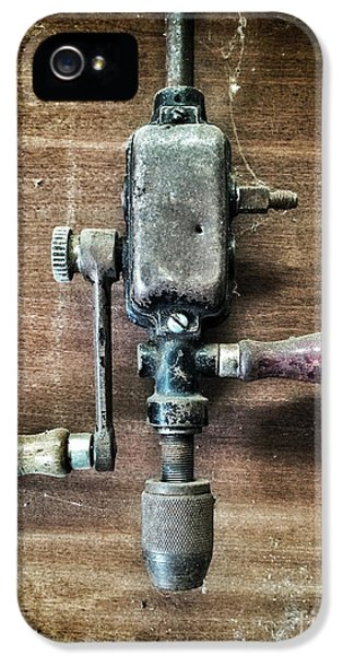 Corroded iPhone 5 Cases - Old Manual Drill iPhone 5 Case by Carlos Caetano