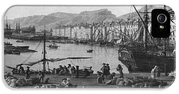 Bundle iPhone 5 Cases - Old Port Of Toulon, Seen From The Quartermasters Stores, Series Of Les Ports De France, 1757 Left iPhone 5 Case by Claude Joseph Vernet