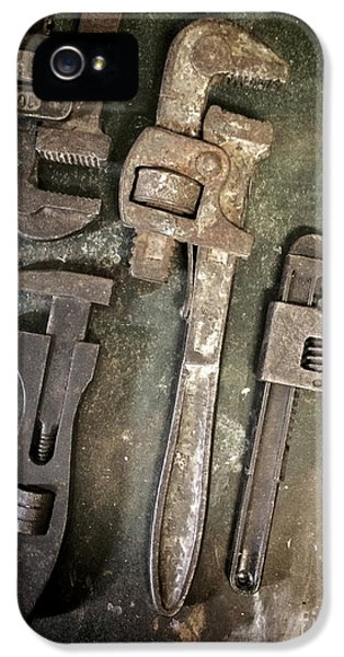 Hardware iPhone 5 Cases - Old Spanners iPhone 5 Case by Carlos Caetano