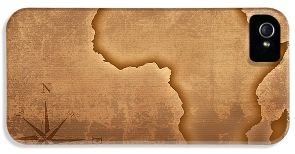 Grunge Style iPhone 5 Cases - Old style Africa map iPhone 5 Case by Johan Swanepoel