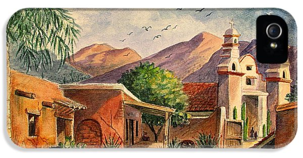 Street Scene iPhone 5 Cases - Old Tucson iPhone 5 Case by Marilyn Smith