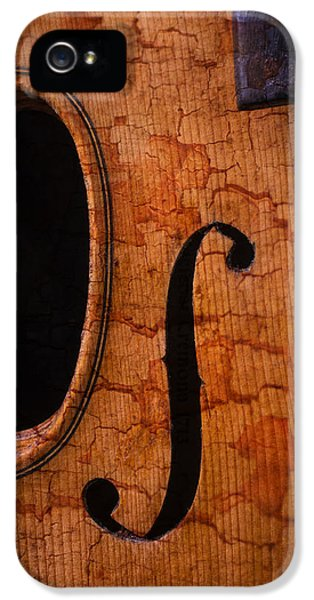 Acoustically iPhone 5 Cases - Old Violin Close Up iPhone 5 Case by Garry Gay