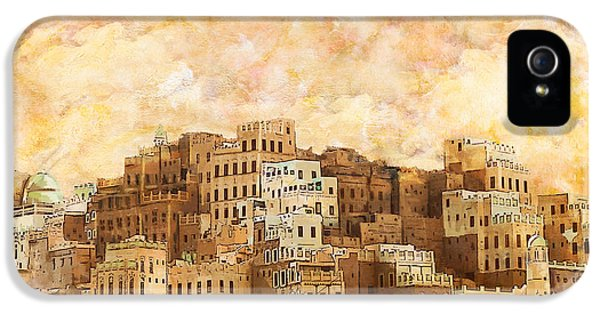 Color Effect iPhone 5 Cases - Old walled city of Shibam iPhone 5 Case by Catf