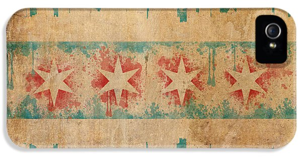 Old World Chicago Flag IPhone 5 / 5s Case by Mike Maher