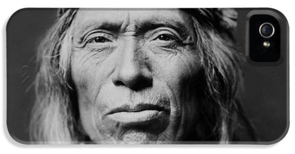 Native American Indian iPhone 5 Cases - Old Zuni Man circa 1903 iPhone 5 Case by Aged Pixel