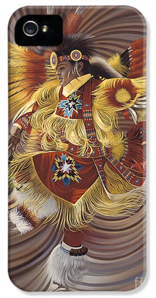 Dance iPhone 5 Cases - On Sacred Ground Series 4 iPhone 5 Case by Ricardo Chavez-Mendez