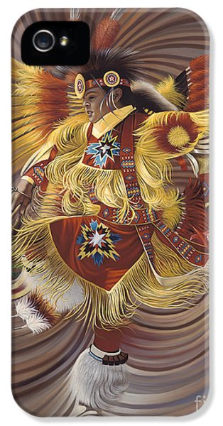 Native American Indian iPhone 5 Cases - On Sacred Ground Series 4 iPhone 5 Case by Ricardo Chavez-Mendez