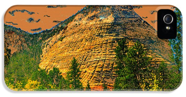 Checker Board iPhone 5 Cases - On the road to Zion iPhone 5 Case by David Lee Thompson