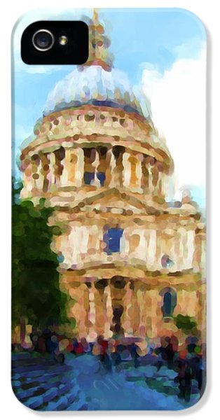 On The Steps Of Saint Pauls IPhone 5 / 5s Case by Jenny Armitage