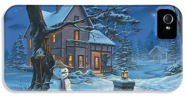 Michael iPhone 5 Cases - Once Upon A Winters Night iPhone 5 Case by Michael Humphries