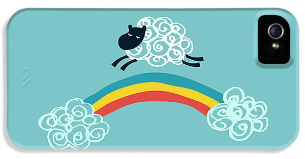 Cartooning iPhone 5 Cases - One Happy Cloud iPhone 5 Case by Budi Satria Kwan
