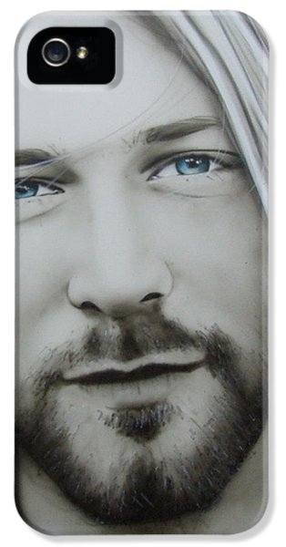 Kurt Cobain iPhone 5 Cases - One More Special Message to Go iPhone 5 Case by Christian Chapman Art
