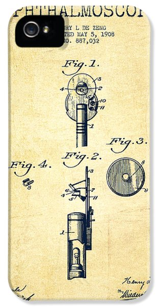 Medical iPhone 5 Cases - Ophthalmoscope Patent from 1908 - Vintage iPhone 5 Case by Aged Pixel