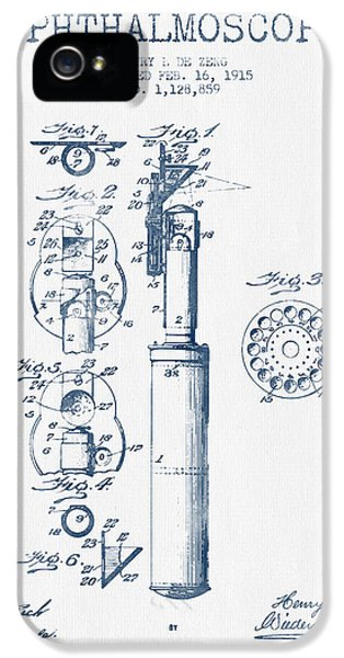 Medical iPhone 5 Cases - Ophthalmoscope Patent from 1915- Blue Ink iPhone 5 Case by Aged Pixel