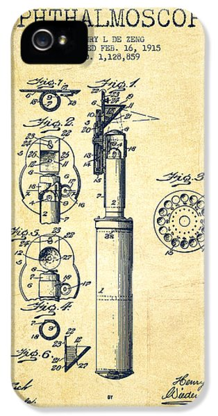 Medical iPhone 5 Cases - Ophthalmoscope Patent from 1915 - Vintage iPhone 5 Case by Aged Pixel