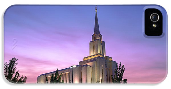 Jordan iPhone 5 Cases - Oquirrh Mountain Temple IV iPhone 5 Case by Chad Dutson