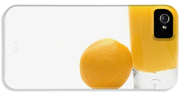 Orange iPhone 5 Cases - Orange And Orange Juice iPhone 5 Case by Darren Greenwood