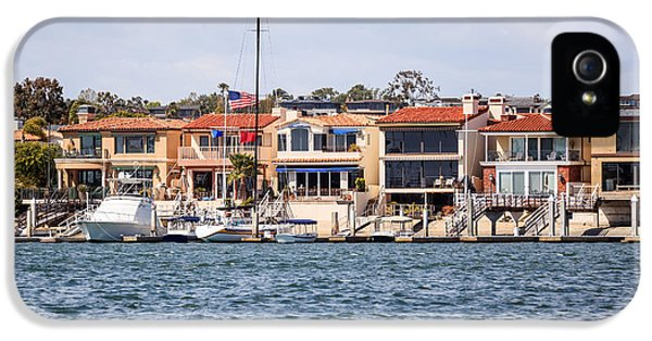 Newport Harbor iPhone 5 Cases - Orange County Waterfront Homes in Newport Beach iPhone 5 Case by Paul Velgos