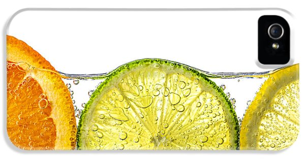 Orange iPhone 5 Cases - Orange lemon and lime slices in water iPhone 5 Case by Elena Elisseeva