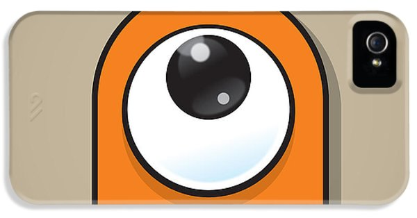 Eyeball iPhone 5 Cases - Orange iPhone 5 Case by Samuel Whitton